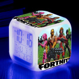 FORTNITE Alarm Clock 7 Colors Discolourable 8*8*8cm