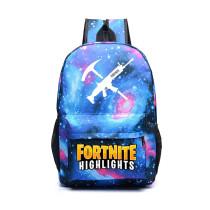FORTNITE Luminous Illuminating Schoolbag Backpack Knapsack Assault Pattern