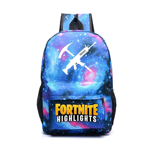 FORTNITE Luminous Illuminating Schoolbag Backpack Knapsack Assault Pattern