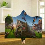 FORTNITE Textile Printing Velvet Cloak Blanket Keep Warm 130*150cm