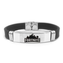 FORTNITE Battle Royale Wristband Stainless Steel Adjustable Silicone Bracelet