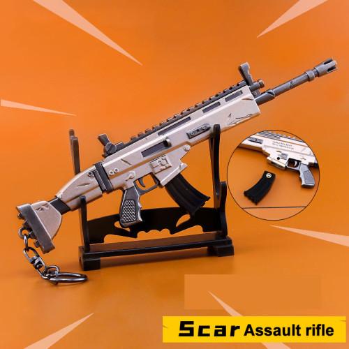 FORTNITE Scar Assault Rifle Sniper Rifle Alloying Weapon Key Chain