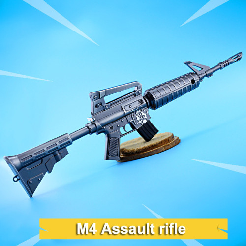 FORTNITE M4 Assault Rifle Kirsite Alloying Weapon Toy Scale Model