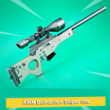 FORTNITE AWM Bolt-action Sniper Rifle Kirsite Alloying Weapon Toy Scale Model
