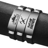 FORTNITE Battle Royale Wristband Stainless Steel Adjustable Silicone Bracelet