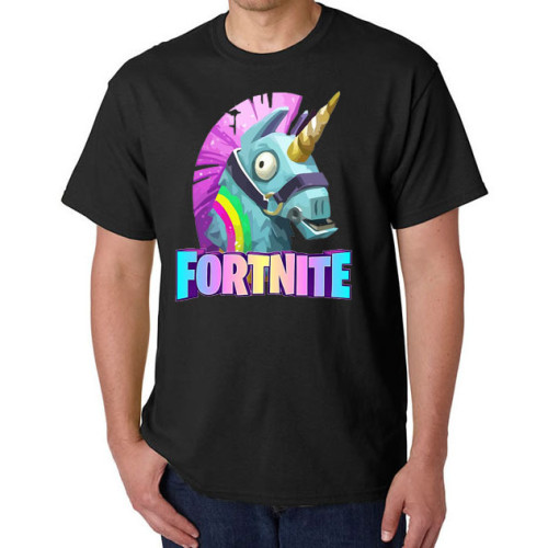FORTNITE Men Women T-Shirts Black Casual Print Round Neck Short Sleeve Tees Tops
