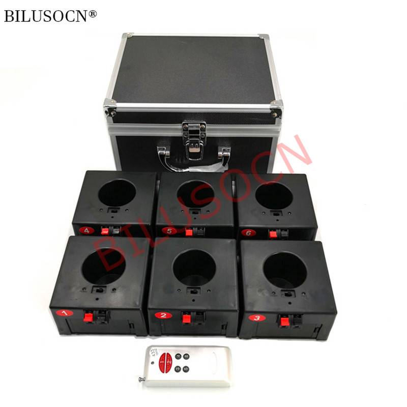 double remote control wireless 6 cues receiver stage fireworks firing system