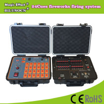 DHL shipping+24Channel fireworks firing system+300M Remote+2400cues transmitt