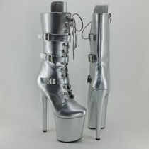 Leecabe Newest 20CM/8inches Pole dance boot with denim High Heel platform Boots closed toe  Pole Dance boot