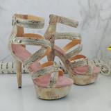 Leecabe 15CM/6Inch Women's Platform Sandals  party High Heels Shoes Pole Dancing Shoes
