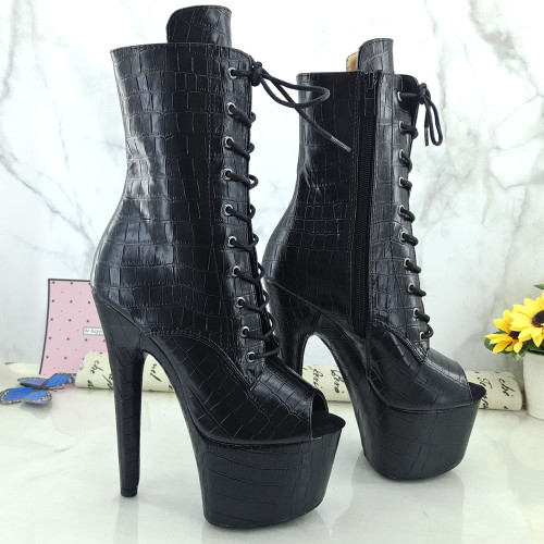 Leecabe 17CM/7inches Pole dancing shoes High Heel platform Boots Pole Dance shoes