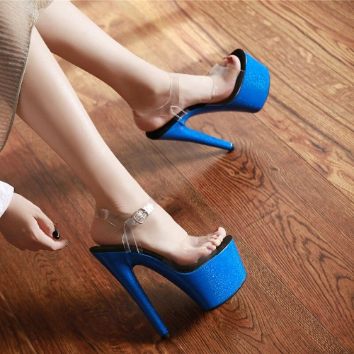 Leecabe 7 Inch Women Mary Jane Platform Pumps17cm Sexy Red Bottom High Heels flower Slipper Exotic Dancer Pole dance shoes