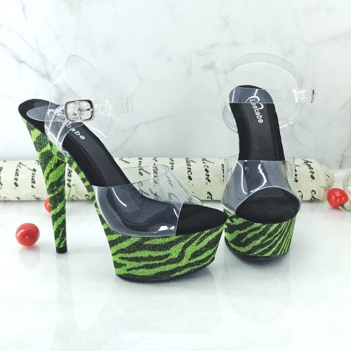 Leecabe 15CM/6Inch Women's Platform Sandals  party High Heels Shoes Pole Dancing Shoes
