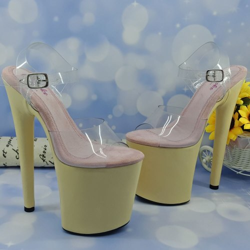 Leecabe 20CM/8Inch Women's Platform Sandals  party High Heels Shoes Pole Dancing Shoes
