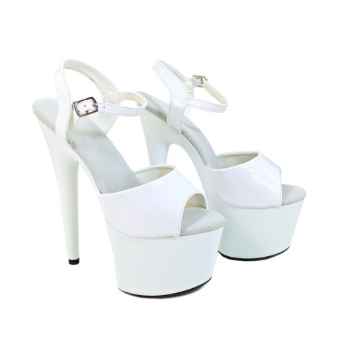 Leecabe Women's Shoes Platform PU Sandals Pole Dancing Shoes 7 Inch High Heels Shoes Nightclub Dance Shoes