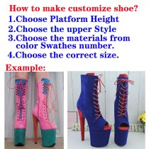 Suede--Customize Style Pole dance shoes
