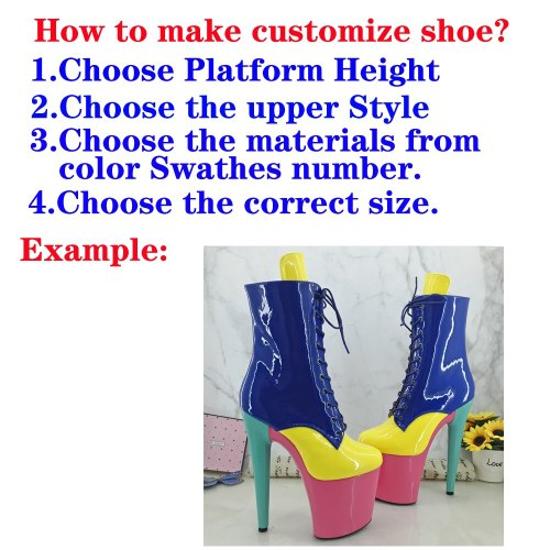 Shinny PU--Customize Style Pole dance shoes