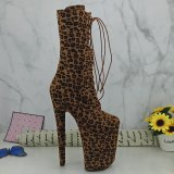 Leecabe Nice Leopard 23CM/9inches Pole dancing platform Pole Dance boots
