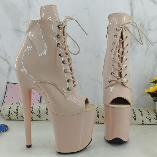 Leecabe  20CM/8inches Pole dance shoes High Heels Pole Dance boot