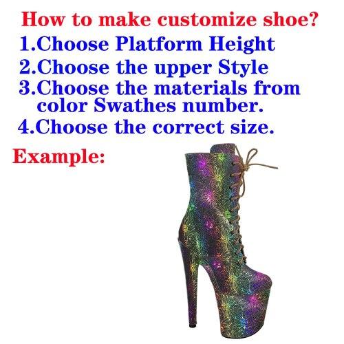Shinny PU--Customize Style Pole dance shoes