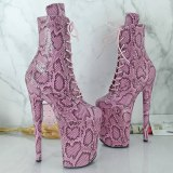 Leecabe  23CM/9inches Leopard Pole dance shoes High Heels Pole Dance boot