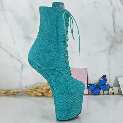Leecabe Sexy Heelless  High Heel Boots Lady Gaga Boots Short Shoes Women Unisex Boots Vamp BDSM Boots