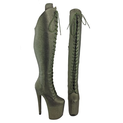Leecabe  20CM/8inches Pole dancing shoes High Heel platform Boots closed toe Pole Dance boots