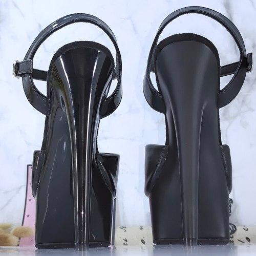 Leecab 6Inch/15cm High Heel Black Platform Party Sexy Clubbing Exotic Pole Dancing Dancer High Heels Sandals