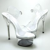 Leecab 6Inch/15cm High Heel Crystal Platform Party Sexy Clubbing Exotic Pole Dancing Dancer High Heels Sandals