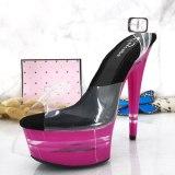 Leecab 6Inch/15cm High Heel Crystal Platform Party Sexy Clubbing Exotic Pole Dancing Dancer High Heels Sandals
