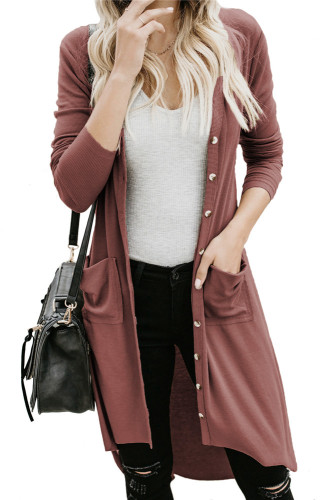Brick red Cardigan jacket