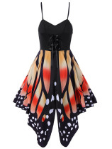Orange Butterfly print sexy camisole