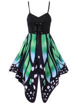 Green Butterfly print sexy camisole