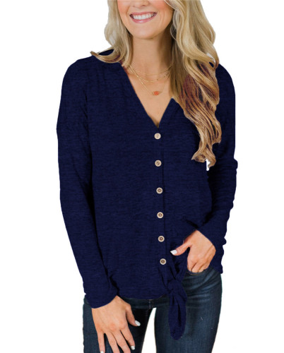 Blue Fashion knitted jacket