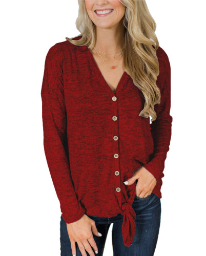 Red Fashion knitted jacket