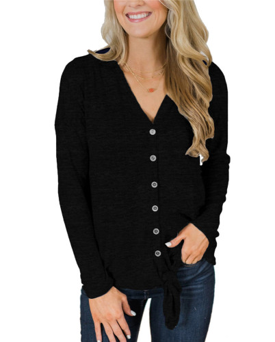 Black Fashion knitted jacket