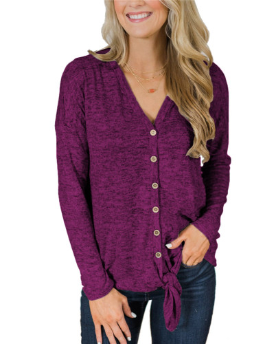 Purple Fashion knitted jacket