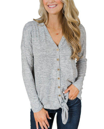 Gray Fashion knitted jacket