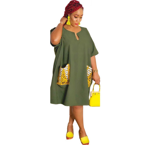 Green Fashion sexy plus size dress