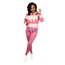 Pink Fashion sweater casual sports suit