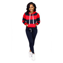 Blue Fashion sweater casual sports suit