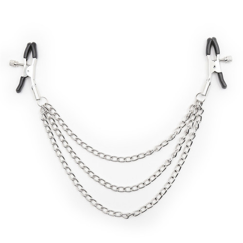 Silver Multi iron chain with three adjustable Mimi clips