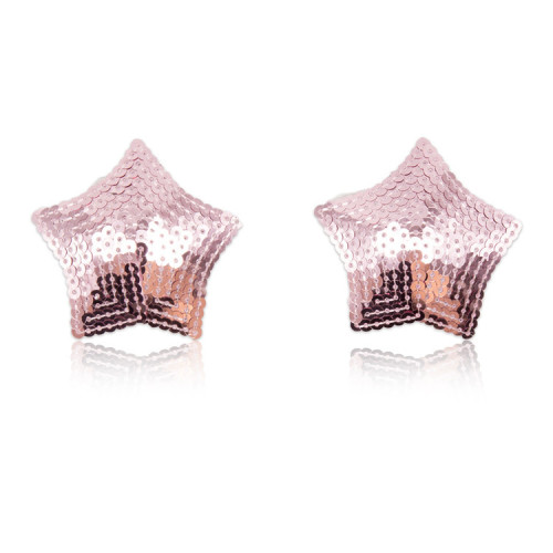 Pink Five-pointed star breast stickers