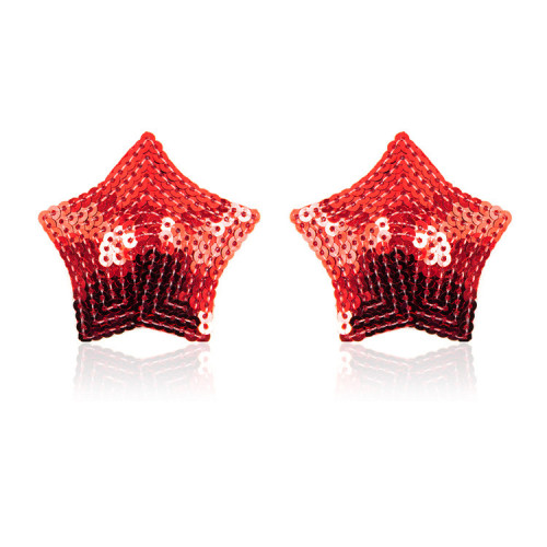 Red Five-pointed star breast stickers
