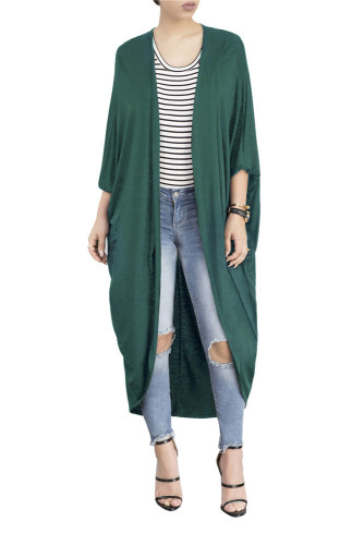 Green Autumn and winter cloak bat shirt