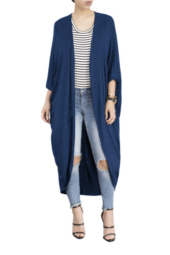 Blue Autumn and winter cloak bat shirt