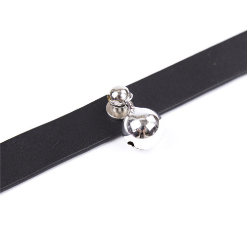 Black Leather Bonded Toy Collar