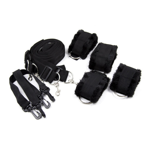 Black Bondage bed straps