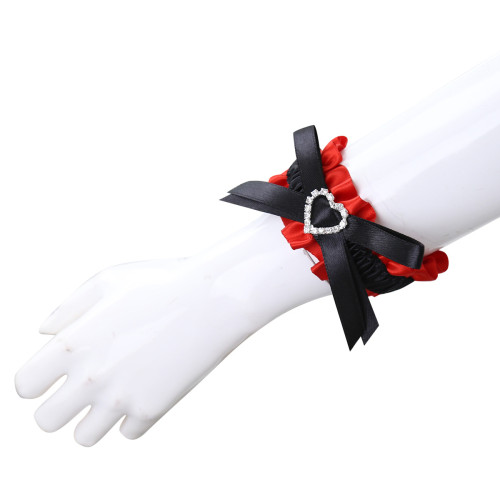 Black Red Bow Neck Sleeve