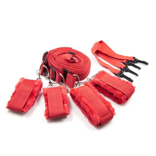 Red Bondage bed straps